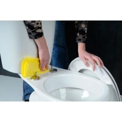 SOFIA deska WC, Soft Close, polypropylen, biała