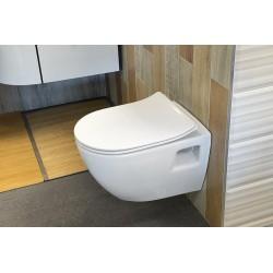 EDITA deska WC SLIM, termoplast SOFT CLOSE, biala