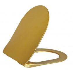 PAULA deska WC SOFT CLOSE, złoto