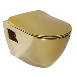 PAULA WC wiszące 35,5x50cm, złoto