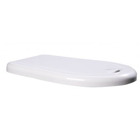 RETRO deska WC Soft Close, termoplast, biała/chrom