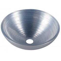 MURANO SILVER umywalka szklana okrągła 40x14cm, srebrna