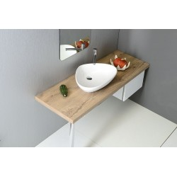 TERUEL umywalka ceramiczna nablatowa 58,5x14x39cm