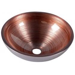 MURANO umywalka szklana okrągła 40x14cm, wenge