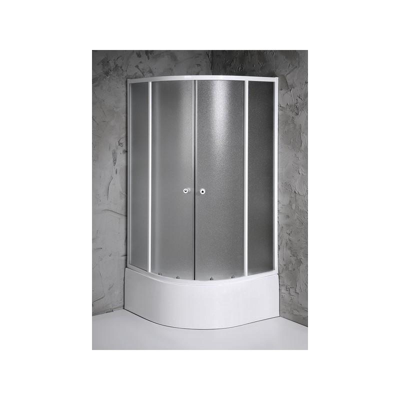 ARLEN kabina prysznicowa półokrągła 800x800mm, szkło BRICK