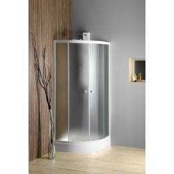 ARLEN kabina prysznicowa półokrągła 900x900mm, szkło Brick