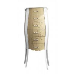 GELSO 55 szafka z szufladami 55x131x35cm, bicolor