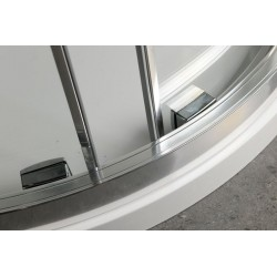 LUCIS LINE półokrągła kabina prysznicowa 1200x900mm, lewa