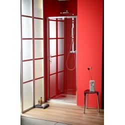 SIGMA drzwi prysznicowe obrotowe 760-920 mm, szkło czyste
