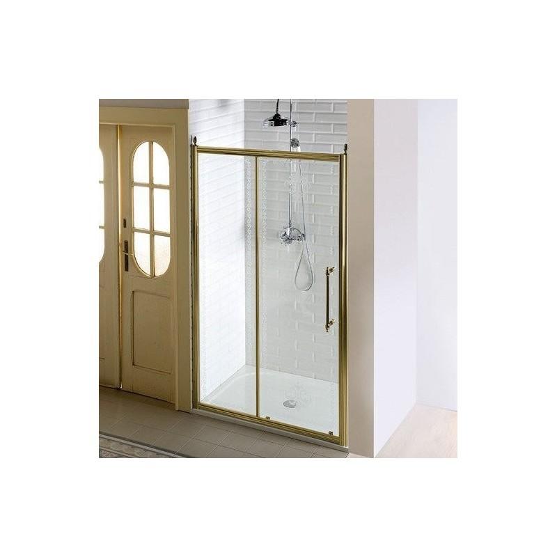 ANTIQUE drzwi prysznicowe, posuwne, 1400mm, szkło czyste, brąz