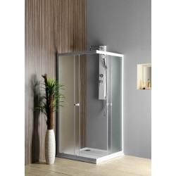 ALAIN kabina prysznicowa narożna, 800x800mm, szkło BRICK