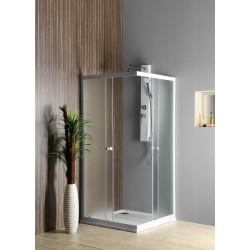 ALAIN kabina prysznicowa narożna, 700x700mm, szkło BRICK