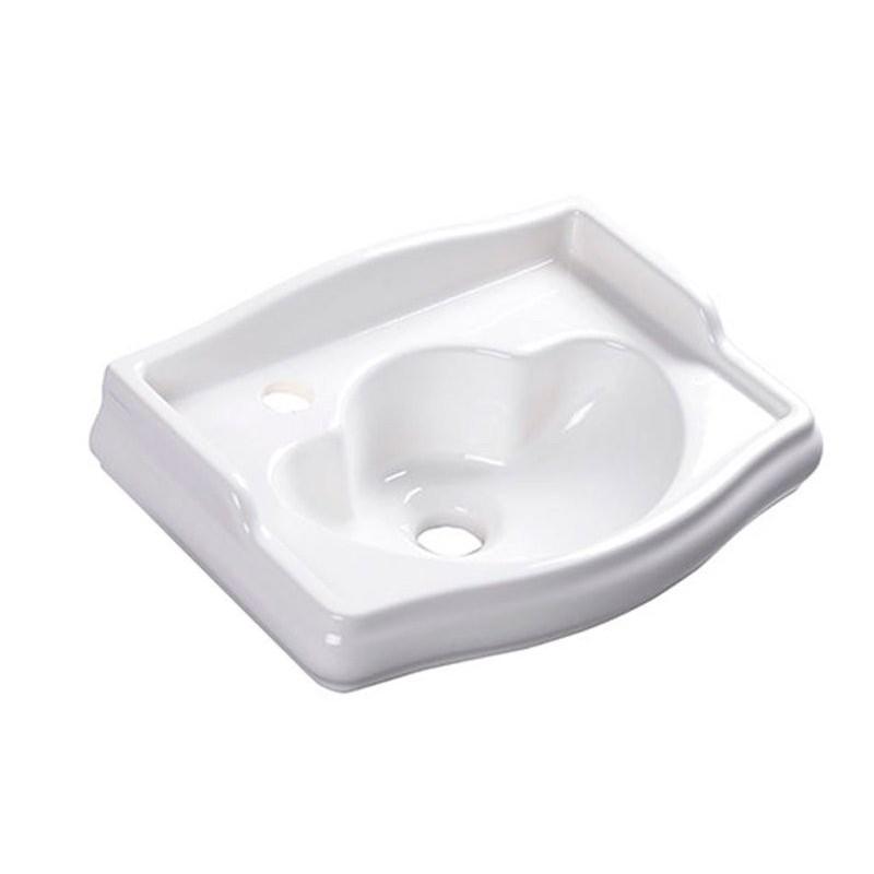 RETRO umywalka ceramiczna 41x30cm, otwór na baterię z lewej strony, bez przelewu