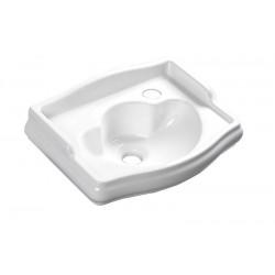 RETRO umywalka ceramiczna 41x30cm, otw. na baterię z prawej strony, bez przelewu