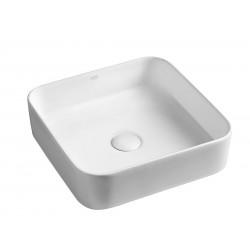 BLADE umywalka ceramiczna nablatowa 40x11,5x40 cm, bez odpływu