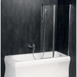 PALOMA parawan wannowy 1200mm, szkło czyste
