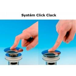 Korek umywalkowy okrągły, Click Clack, duży, chrom