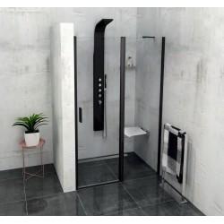 ZOOM LINE BLACK drzwi prysznicowe 1200mm, szkło czyste