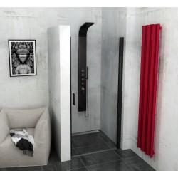 ZOOM LINE BLACK drzwi prysznicowe 800mm, szkło czyste