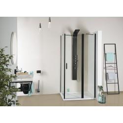 ZOOM LINE BLACK drzwi prysznicowe 1100mm, szkło czyste