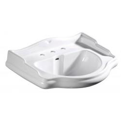 RETRO umywalka ceramiczna 69x52cm, z 3 otworami na baterię