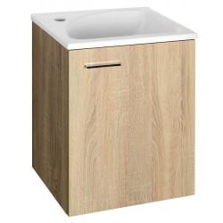 ZOJA/KERAMIA FRESH szafka umywalkowa 40x50x32cm, dąb platin
