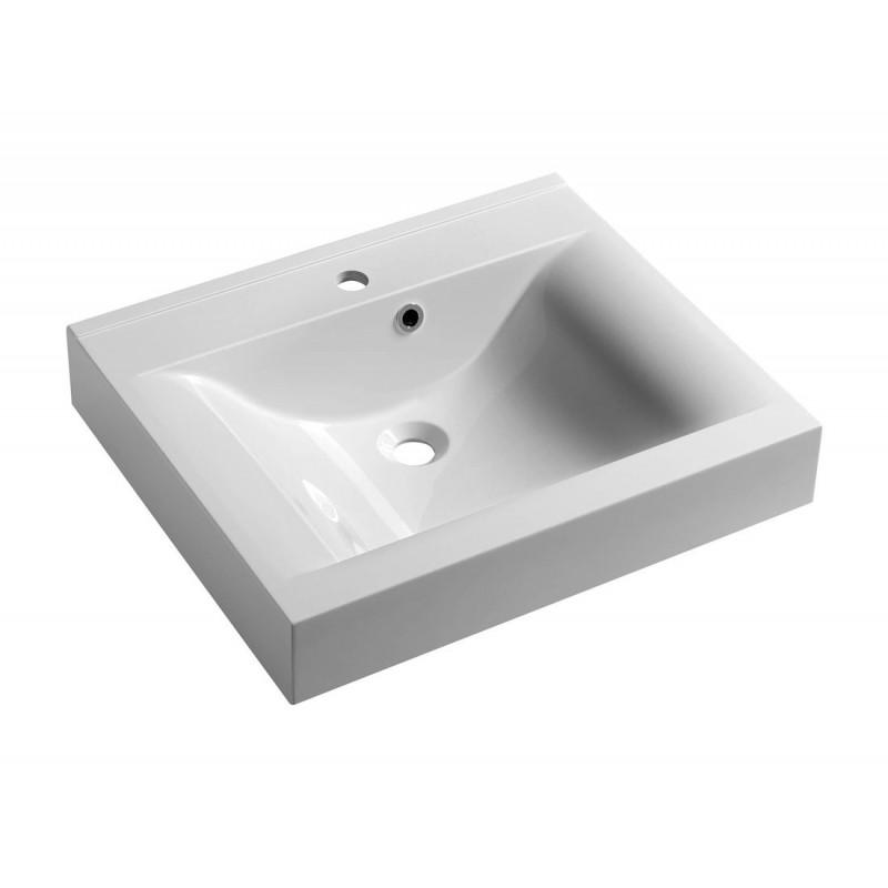 FLAVIA umywalka kompozytowa 60x50cm, biała