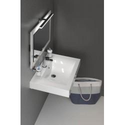 FLAVIA umywalka kompozytowa 70x50cm, biała