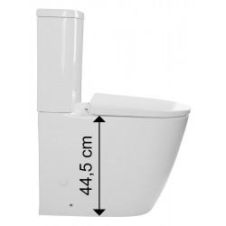 TURKU RIMLESS WC kombi misa podwyższana, deska WC Soft Close, uniwersalna