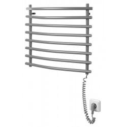 Elektryczna suszarka na ręczniki, 570x465 mm, 72 W, szary metalik (RAL9007)