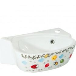 KID umywalka dla dzieci 39x29cm, kolorowy sitodruk