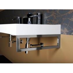 FLAVIA umywalka kompozytowa podwójna 140x50cm, biała