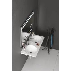 JUNO umywalka kompozytowa 101,5x15x46cm, biała