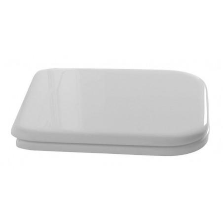 WALDORF deska WC Soft Close, polyester, biała/brąz