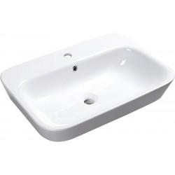 SAVANA umywalka ceramiczna wpuszczana w blat, 65x17x45cm