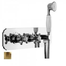LONDON podtynkowa bateria prysznicowa z prysznicem ręcznym,2 funkcyjna, brąz