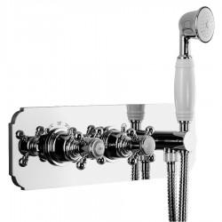LONDON podtynkowa bateria prysznicowa z prysznicem ręcznym,2 funkcyjna,chrom