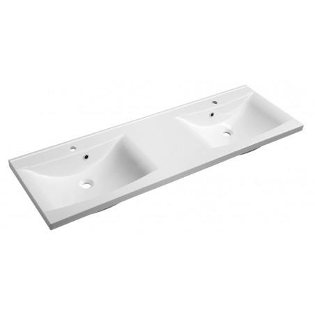 LUCIOLA umywalka podwójna kompozytowa 150x50cm, biała