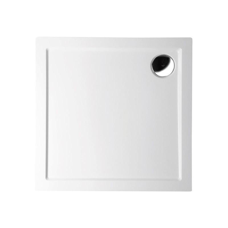 AURA brodzik kompozytowy, kwadrat 90x90x4cm, biała
