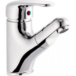 KASIOPEA bateria umywalkowa z wysuwanym prysznicem, chrom