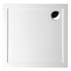 AURA brodzik kompozytowy, kwadrat 100x100x4mm, biała