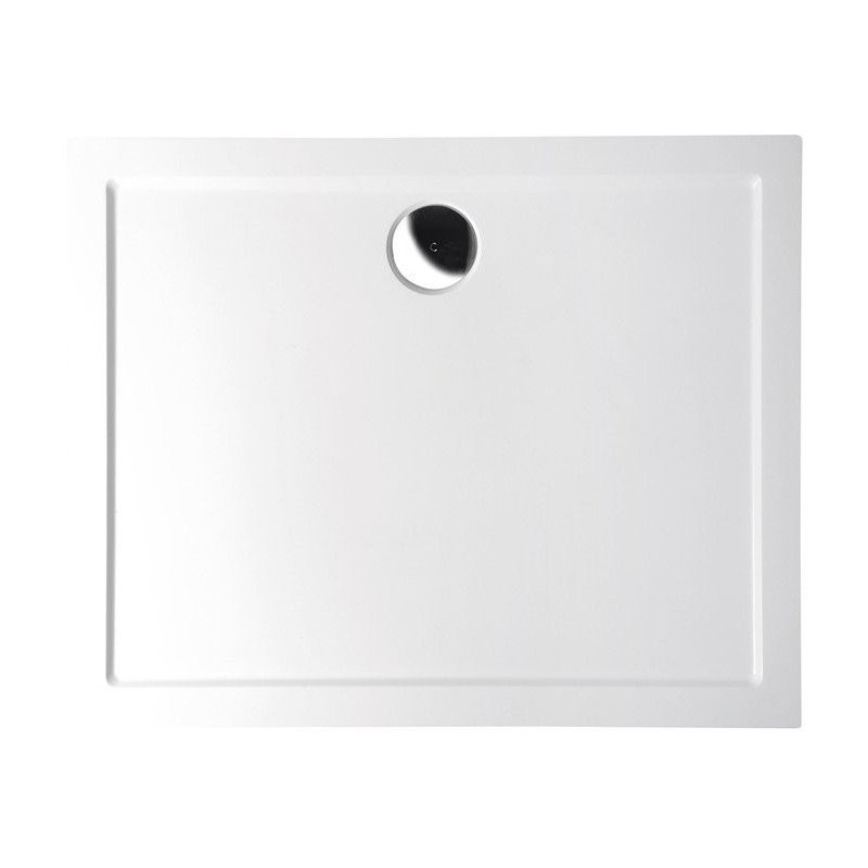 KARIA brodzik kompozytowy, prostokąt 120x80x4cm, biała
