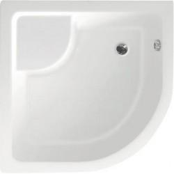 Brodzik prysznicowy, akrylowy półokrągły 80x80x28cm z nóżkami, R550