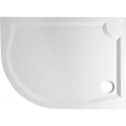RIVA brodzik prysznicowy kompozytowy, półokrągły 120x90 cm, prawy