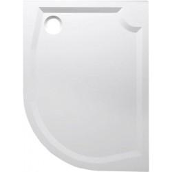RIVA brodzik prysznicowy kompozytowy, półokrągły 120x90 cm, lewy