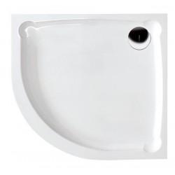 HERA90 brodzik kompozytowy, pólokrągły, 90x90x7,5cm, R550