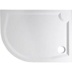 RIVA brodzik prysznicowy kompozytowy, półokrągły 100x80cm, prawy