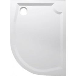 RIVA brodzik prysznicowy kompozytowy, półokrągły 100x80cm, lewy