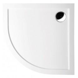 SERA R50 - brodzik, 800x800x40 mm, lity marmur, kolor biały