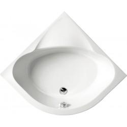 SELMA brodzik prysznicowy półokrągły 90x90x30cm,R55, głęboki, biały ze nózkami